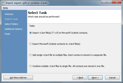 vCard ImportExport 3.8.4996 software screenshot